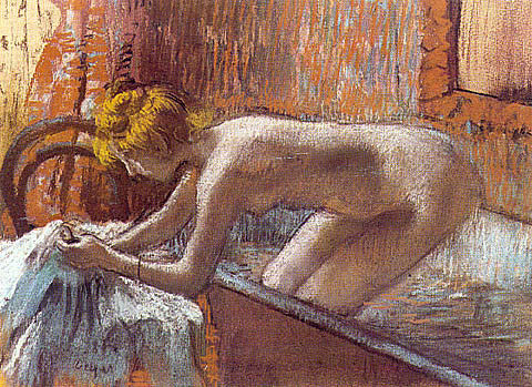 Edgar Degas-Woman Leaving Her Bath