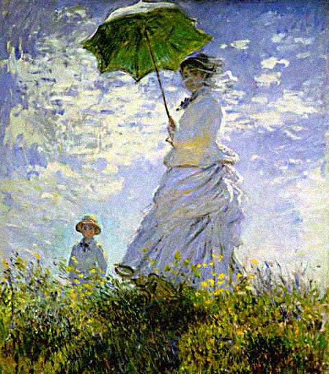 Claude Monet-Woman With Parasol and Child