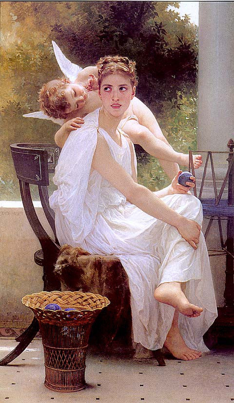 William Adolphe Bouguereau-Work Interrupted