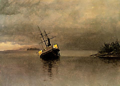 Albert Bierstadt-Wreck Of The Ancon In Alaska