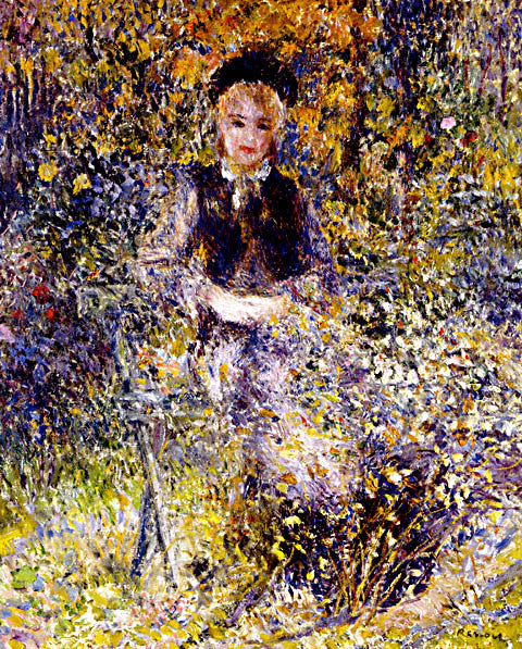 Pierre Auguste Renoir-Young Girl On A Bench 1875
