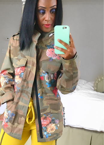 Flower patch Army Jacket