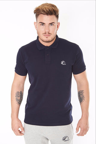Lombordy Slim Cut Polo Shirt - Navy - Lombordy