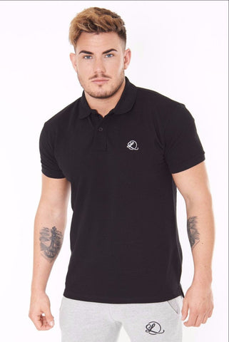 Lombordy Slim Cut Polo Shirt - Black - Lombordy