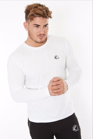 Lombordy Signature Long Sleeve Tee - White - Lombordy