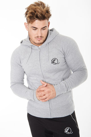 Lombordy Zip-Up Hoodie - Light Heather - Lombordy