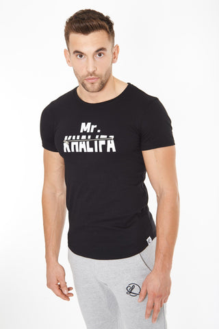 Lombordy Mr Khalifa Curved Tee - Black - Lombordy