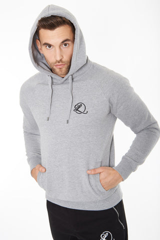 Lombordy Pullover Hoodie with Side Pockets - Light Heather - Lombordy