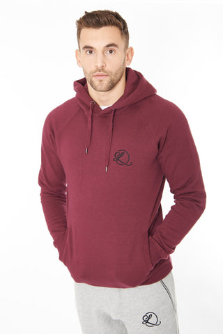 Lombordy Pullover Hoodie with Side Pockets - Claret Red - Lombordy