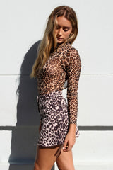 LILLY LEOPARD SKIRT