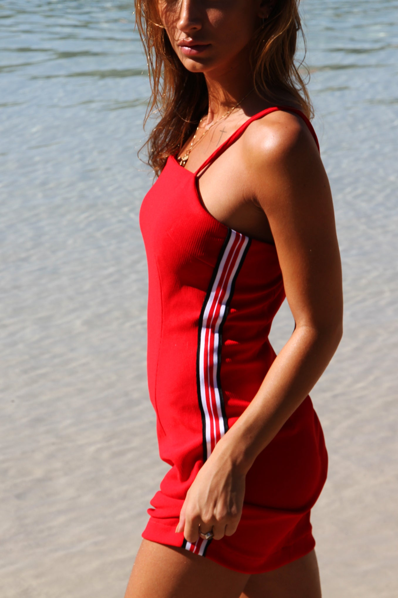 RACER DRESS RED