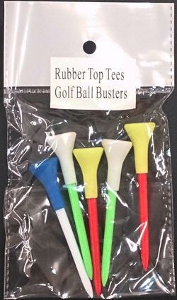 Rubber Top Tees - Bag of 5