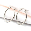 Oval Hoop Earrings, 28mm, 6 Pairs, #08
