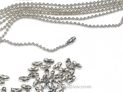 1.5mm Ball Chain, Stainless Steel, Lot Size 25 Meters Spooled #1923