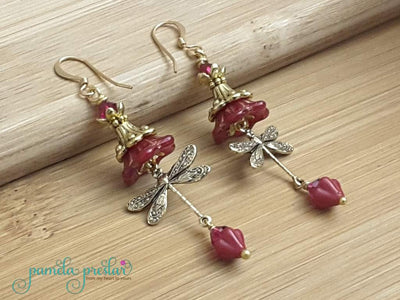 How to Make Wrapped Bead and Charm Earrings