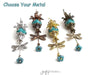 Tutorial Pattern, Flower Dragonfly Charm Earrings