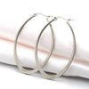 Oval Hoop Earrings, 58mm, 6 Pairs, #06