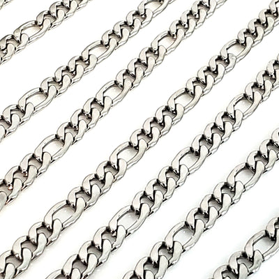 6mm Figaro Chain, Lot Size 30 Feet, #1976