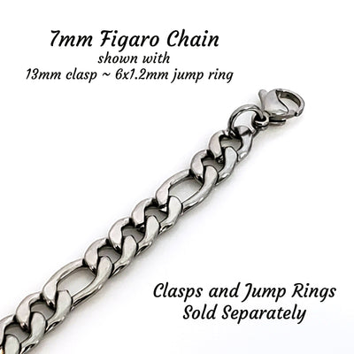 10mm Figaro Chain, Lot Size 30 Feet, #1980