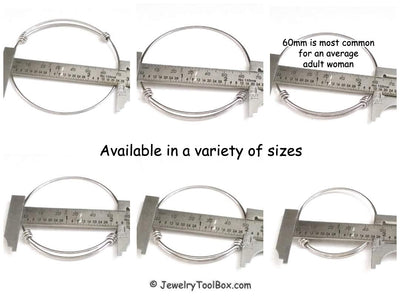 Expandable Bangle Bracelet, Adjustable Bulk Stainless Steel Jewelry Findings, Lot Size 50 Bracelets, 6 Wrist Sizes Available