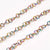 Stainless Chain, Titanium Plated Round 3x0.6mm Open Links, 30 Feet on a Spool, #1910 MC