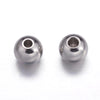 6mm Stainless Steel Beads, Solid Wall, 6x5mm, 3mm hole, Lot Size 500 Beads, #1502 A