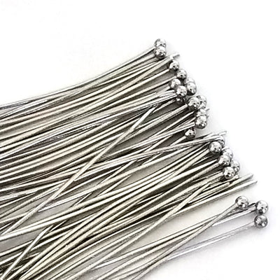 Stainless Steel Ballpins, 40mm (1-1/2 inch), 0.6mm thick, 23 gauge, Lot Size 50 (Approximately), #1302-40