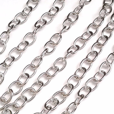 Chunky Jewelry Chain, 8x6mm Oval Open Links, Lot Size 25 Meters, #1935