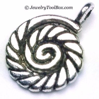 Twisted Rope Charms, Boat Line Pendants, Antique Silver, Double Sided, 12x16mm,  Lot Size 30, #1012