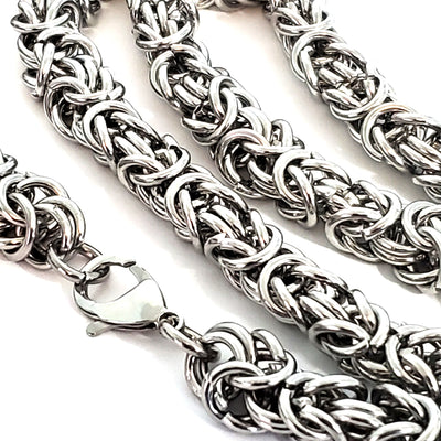 Heavy Duty Byzantine Chain Stainless Steel, Open Links, 11mm Diameter, 1 Meter #1966 D