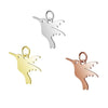 Hummingbird Charms, Stainless Steel, 13x15x1mm, 3mm Jump Ring, Lot Size 5 Charms, #1667