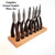 Casual Comfort Jewelry Making Pliers Set with Wood Block, 8 Pieces, Box Joint, Return Leaf Spring, Beadsmith Brand, #309