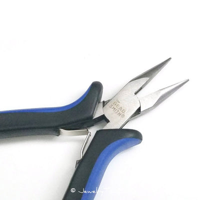 Chain Nose Pliers, Jewelry Making Tools, Ergonomic Grip Handles, Box Joint, Return Leaf Spring, Beadsmith Brand, #1162