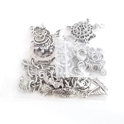 Sea Life Charm Bracelet Kit Parts Packaged