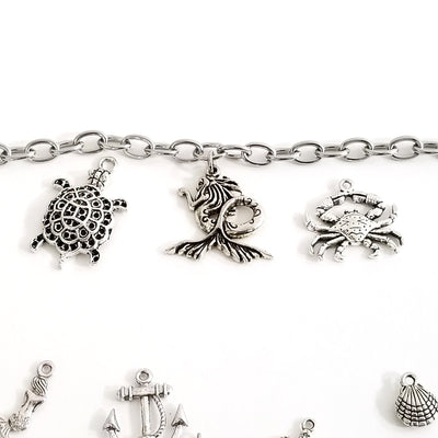 How To Make the Sea Life Charm Bracelet, the tutorial