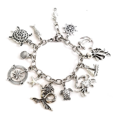 Sea Life Charm Bracelet Basic Kit Completed Bracelet