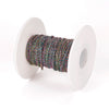 Titanium Plated Stainless Steel Fine Chain, 2.5x2mm Flattened Oval Links, 30 Feet on a Spool, #1909 MC