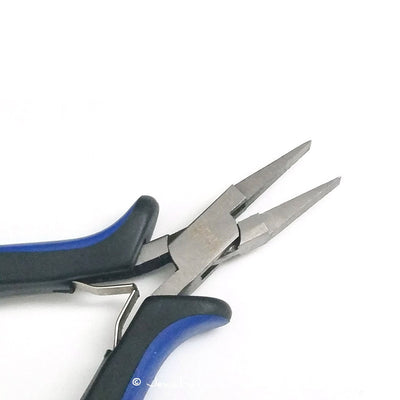 Flat Nose Pliers, Jewelry Making Tools, Ergonomic Grip Handles, Box Joint, Return Leaf Spring, Beadsmith Brand, #1161