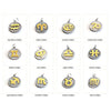 Gold Stainless Steel Zodiac Pendants, Astrological Signs Set of 12, 3/4 inch diameter