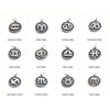 Stainless Steel Zodiac Pendants, Astrological Signs Set of 12, 3/4 inch diameter