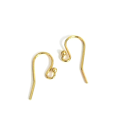 Gold Stainless Steel Ear Wire,  Earrings Hooks, Easy Attach, Easy Change Style, 50 Pieces, #1348 G