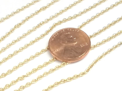 Fine Gold Stainless Chain, 2mm Soldered Closed Links, Lot Size 20 Feet to 50 Meters on a Spool, #1913 G