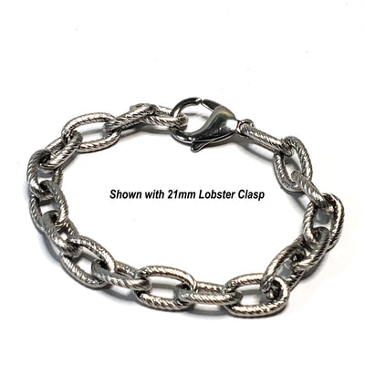 Extra Thick Textired Stainless Steel Jewelry Chain, 30 Feetl, Open Links, 14.5x9x2.5mm, #1969