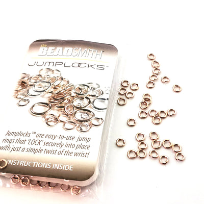 Rose Gold-Filled JumpLocks™, 4x0.8mm (20 gauge), 100 Pieces, Non-Tarnish, 408JL
