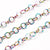 Stainless Chain, Titanium Plated Round 3x0.3mm Open Links, 30 Feet on a Spool, #1903 MC