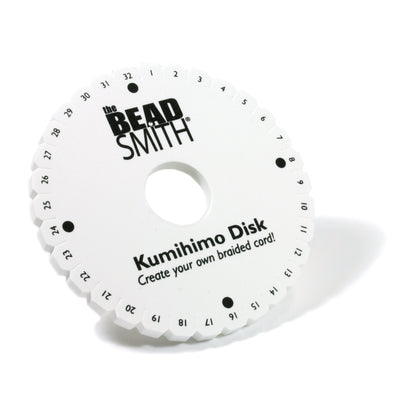Kumihimo Disk with Instructions, 6 Inches, 3/8 Inch Thick, 35mm Hole, #600