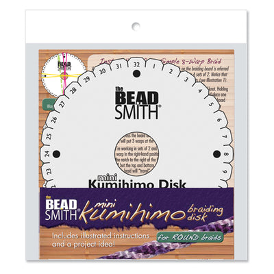 Kumihimo Disk with Instructions, 4.25 Inches, 3/8 Inch Thick, 35mm Hole, #602