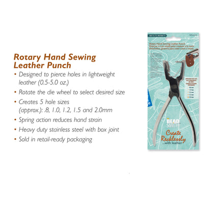 Rotary Hand Sewing Leather Punch, #LP5 11