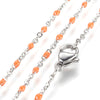 Orange Stainless Station Chains, 18 inches each, Lot of 10 Chains, #99B