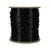 Black Rattail, 1mm, Size #0, 70 Yard Spool, USA Made, RTBKO